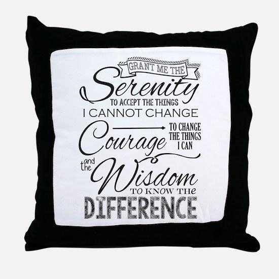 Serenity Prayer (chalk Text) Throw Pillow