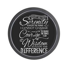Serenity Prayer (chalk Text) Wall Clock