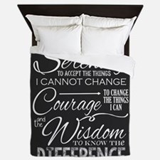 Serenity Prayer (chalk Text) Queen Duvet