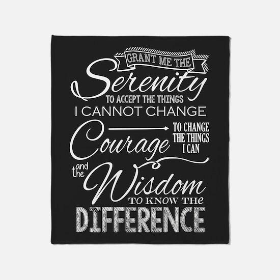 Serenity Prayer (chalk Text) Throw Blanket