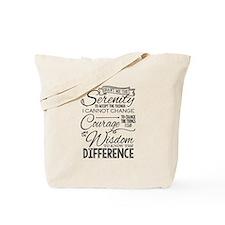 Serenity Prayer (chalk Text) Tote Bag