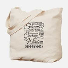 Serenity Prayer (chalk Text) Tote Bag