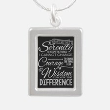 Serenity Prayer (chalk Text) Necklaces