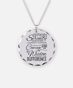 Serenity Prayer (chalk Text) Necklace