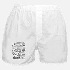 Serenity Prayer (chalk Text) Boxer Shorts