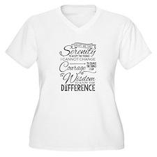 Serenity Prayer (chalk Text) Plus Size T-Shirt