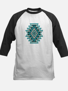 Native Style Turquoise Sunbur Kids Baseball Jersey