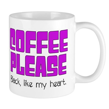 Coffee Black Like My Heart Mugs