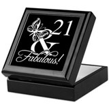 Celebrate turning 21 Square Keepsake Boxes