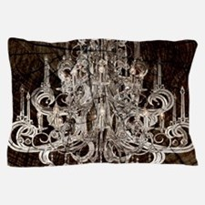 rustic wood vintage chandelier Pillow Case