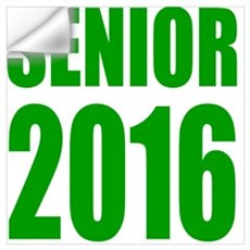 Senior 2016 (green) Wall Decal