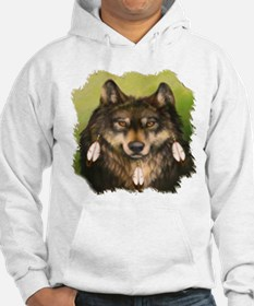 Three Feather Wolf Hoodie