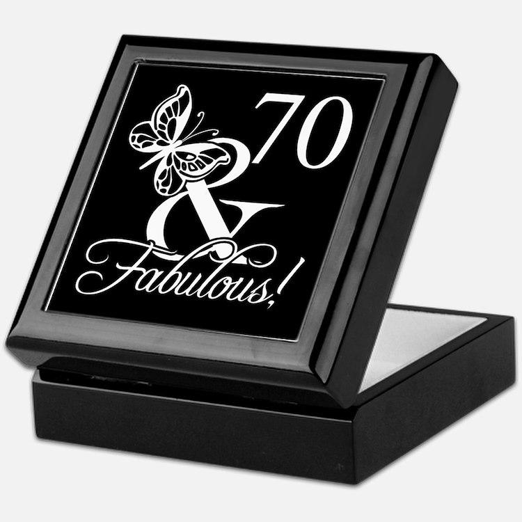 Fabulous 70th Birthday Keepsake Box