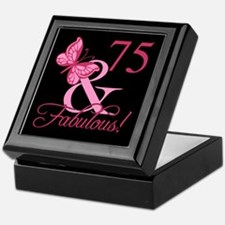 Fabulous 75th Birthday Keepsake Box