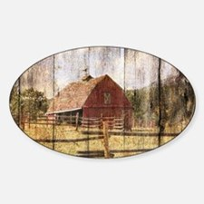 western country red barn Decal