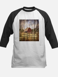 western country red barn Baseball Jersey