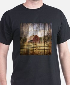 western country red barn T-Shirt