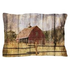 western country red barn Pillow Case