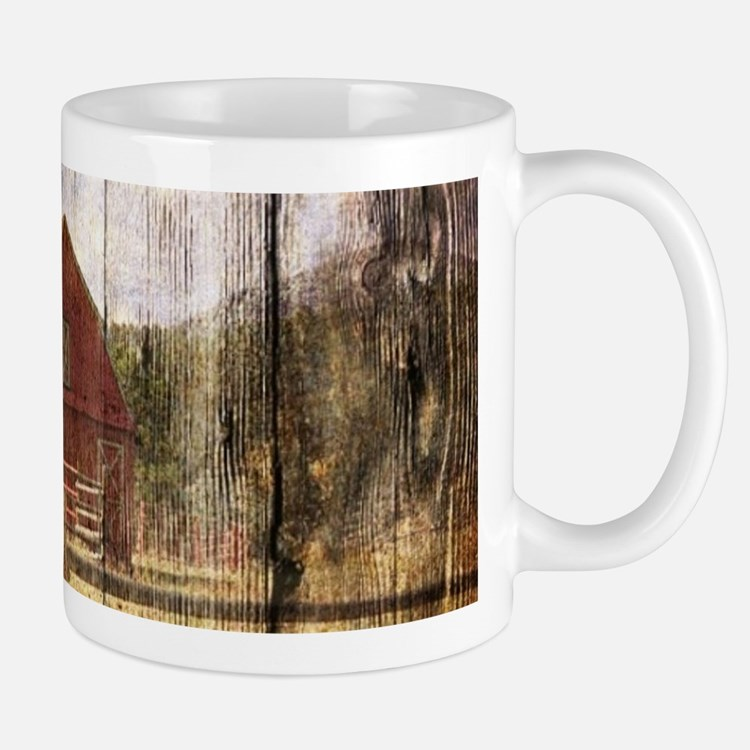 western country red barn Mugs