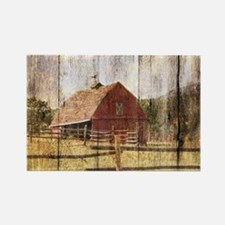 western country red barn Magnets