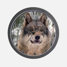 Wolf in Woods Wall Clock
