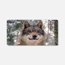 Wolf In Woods Aluminum License Plate