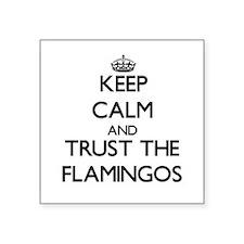 """Unique Flamingos Square Sticker 3"""" x 3"""""""