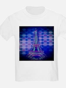 modern circles eiffel tower T-Shirt