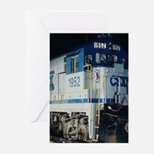 Train Engine Greeting Cards