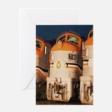 Train Engines Greeting Cards