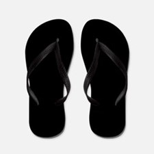 Solid Black Flip Flops
