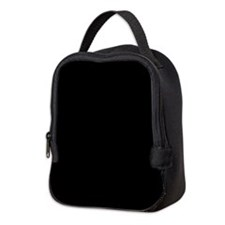 Solid Black Neoprene Lunch Bag