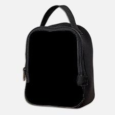Solid Black Neoprene Lunch Bag