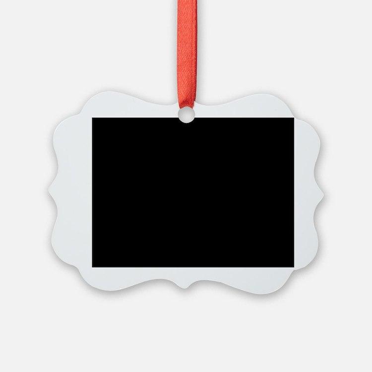 Solid Black Ornament