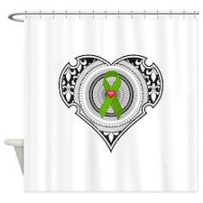 Kidney heart Shower Curtain