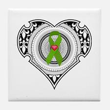 Kidney heart Tile Coaster