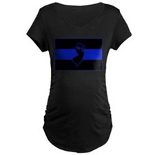 PoliceFlagNJ.jpg Maternity T-Shirt