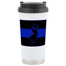 PoliceFlagNJ.jpg Travel Coffee Mug