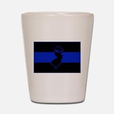 PoliceFlagNJ.jpg Shot Glass