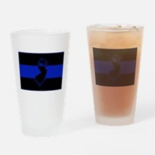 PoliceFlagNJ.jpg Drinking Glass