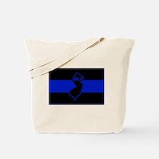PoliceFlagNJ.jpg Tote Bag