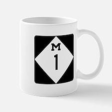 Woodward Avenue Route Shield - M1 Mugs