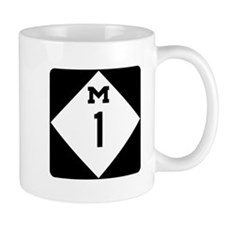 Woodward Avenue Route Shield - M1 Mugs