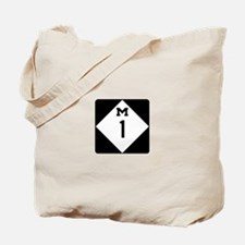 Woodward Avenue Route Shield - M1 Tote Bag