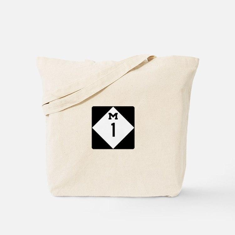 Woodward Avenue Route Shield - M1 Tote Bag