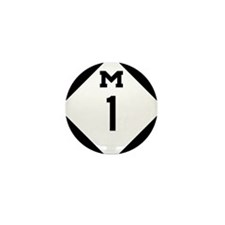Woodward Avenue Route Shiel Mini Button (100 pack)