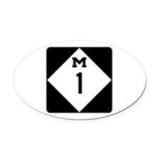 Woodward Avenue Route Shield - M1 Oval Car Magnet