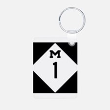 Woodward Avenue Route Shield - M1 Keychains