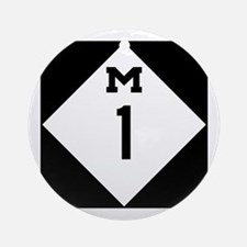 Woodward Avenue Route Shield - M1 Round Ornament