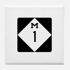 Woodward Avenue Route Shield - M1 Tile Coaster